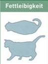 schematische Darstellung Fettleibigkeit Katze