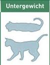 schematische Darstellung untergewichtige Katze
